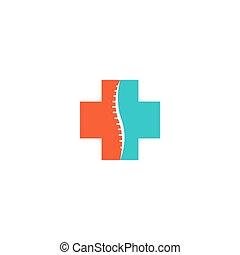 espinha, abstratos, espinhal, ortopédico, médico, logotipo, ícone
