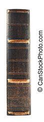 espinha, livro, antigas, isolado