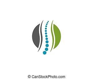espinha, símbolo, desenho, diagnósticos