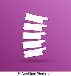 espinha, símbolo, vetorial, desenho, diagnósticos, ícone