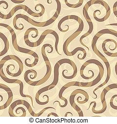 espirais, areia, seamless, padrão