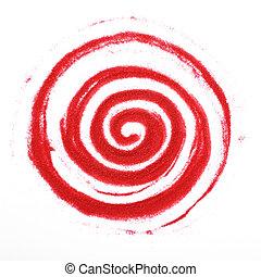 espiral, arenoso