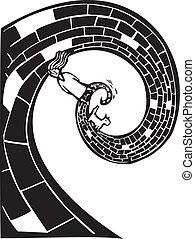 espiral, camino
