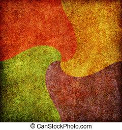 espiral, cor, quadrado, fundo, textura