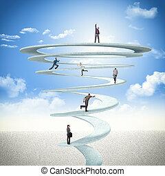 espiral, empresa / negocio