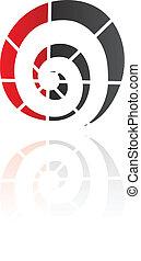 espiral, forma, abstratos, ícone