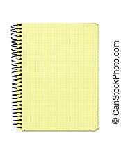 espiral, fundo, caderno