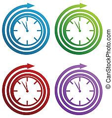 espiral, relógio