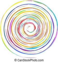 espirales, hélice, grungy, twirls., voluta, forma, textured...
