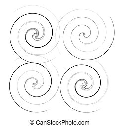 espirales, hélice, twirls., voluta, forma, caracol, ...