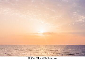 espiritual, amanhecer, com, sol, círculo