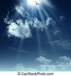 espiritual, heaven., resumen, fondos, diseño, manera, su