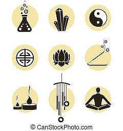 espiritualidade, jogo, ícone