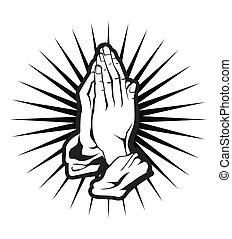 espiritualidade, mão