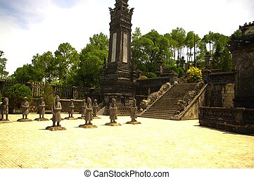 Esplanade of the tomb of King Khai