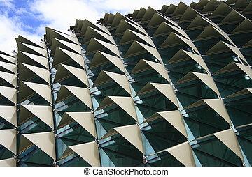 Esplanade Singapore - Roof of Esplanade, a landmark building...