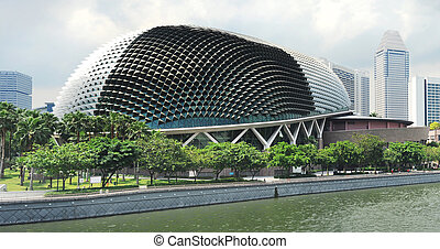 Esplanade Theatres on the Bay, on the waterfront of ...