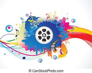 esplodere, media, astratto, colorito