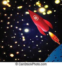 esplorare, cosmo, razzo spaziale