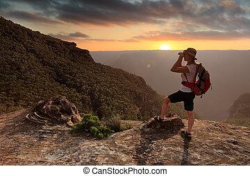 esplorare, il, explorer's, serie, montagne blu