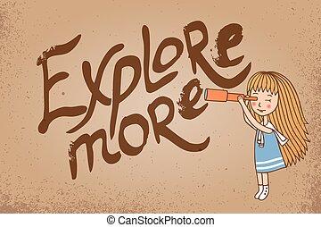esplorare, scheda, più