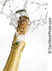 esplosione, di, champagne