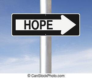 espoir, manière, ceci