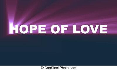 espoir, motivation, texte, lumière, amour
