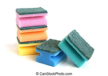 esponjas, multicolor