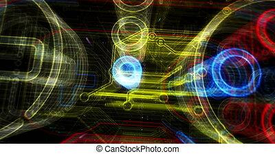 Esport cyber game futuristic animation