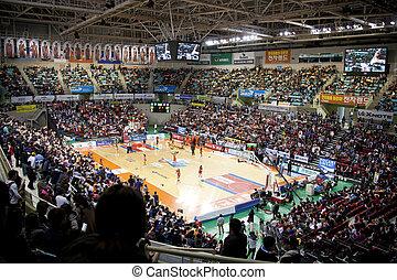 esportes, basquetebol, arena, em, coréia sul