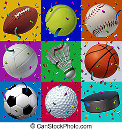 esportes, celebração, padrão