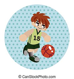esportes com bolas, tema, elementos