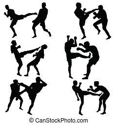 esportes, combate, homem