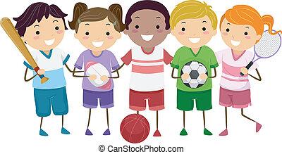 esportes, crianças