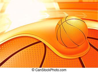esportes, fundo, basquetebol