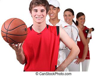 esportes, jogadores