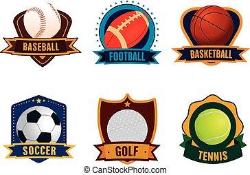 esportes, jogo, ícone
