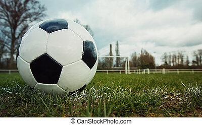esportes, livre, relvar, capim, típico, lazer, field., marcação, futebol, primavera, bola, futebol, linha, estádio, goal., activity., antes de, saudável, tradicional, ao ar livre, pontapé, verde