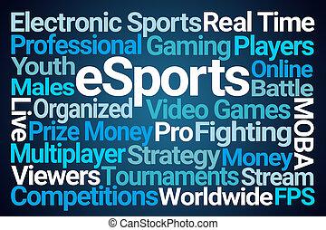 esports, woord, wolk