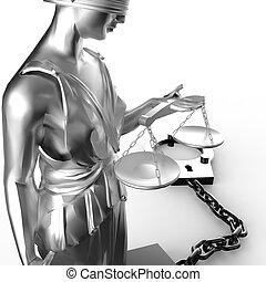 esposas, themis, estatua