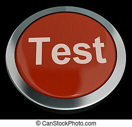 esposizione, bottone, quiz, linea, prova, questionario, o, ...