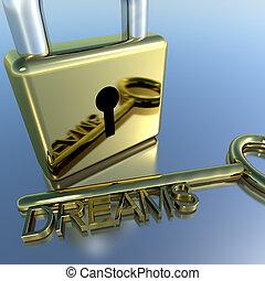 esposizione, lucchetto, auguri, fare un sogno, chiave, futuro, speranza