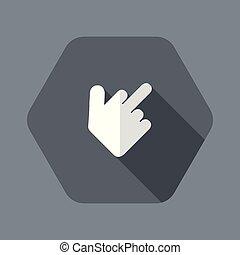 esposizione, mano, dito, mezzo