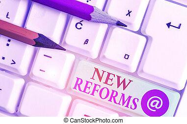 esposizione, reforms., emendare, testo, nuovo, o, ...