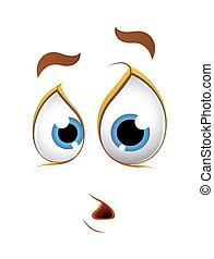espressione, abbicare, faccia