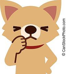 espressione, cane, agitato