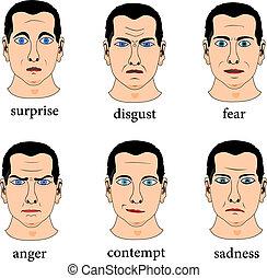 espressione, facciale
