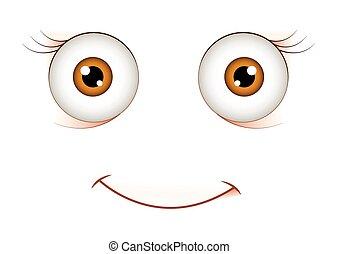 espressione, sorpreso, faccia