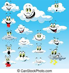 espressioni, nubi, molti